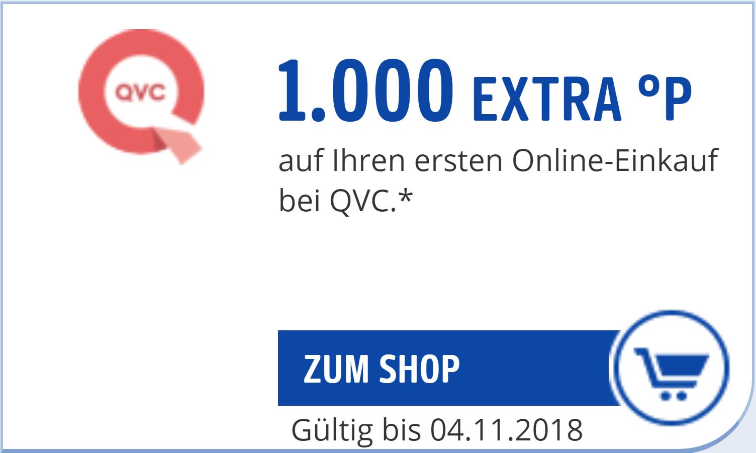 [PAYBACK] 1.000 Extra-Punkte für Neukunden des Online-Shops QVC (Freebies & Gewinn möglich)