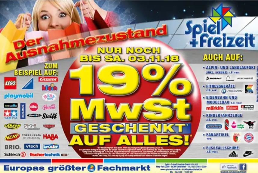 19% zurück... Spiel+Freizeit (Augsburg)
