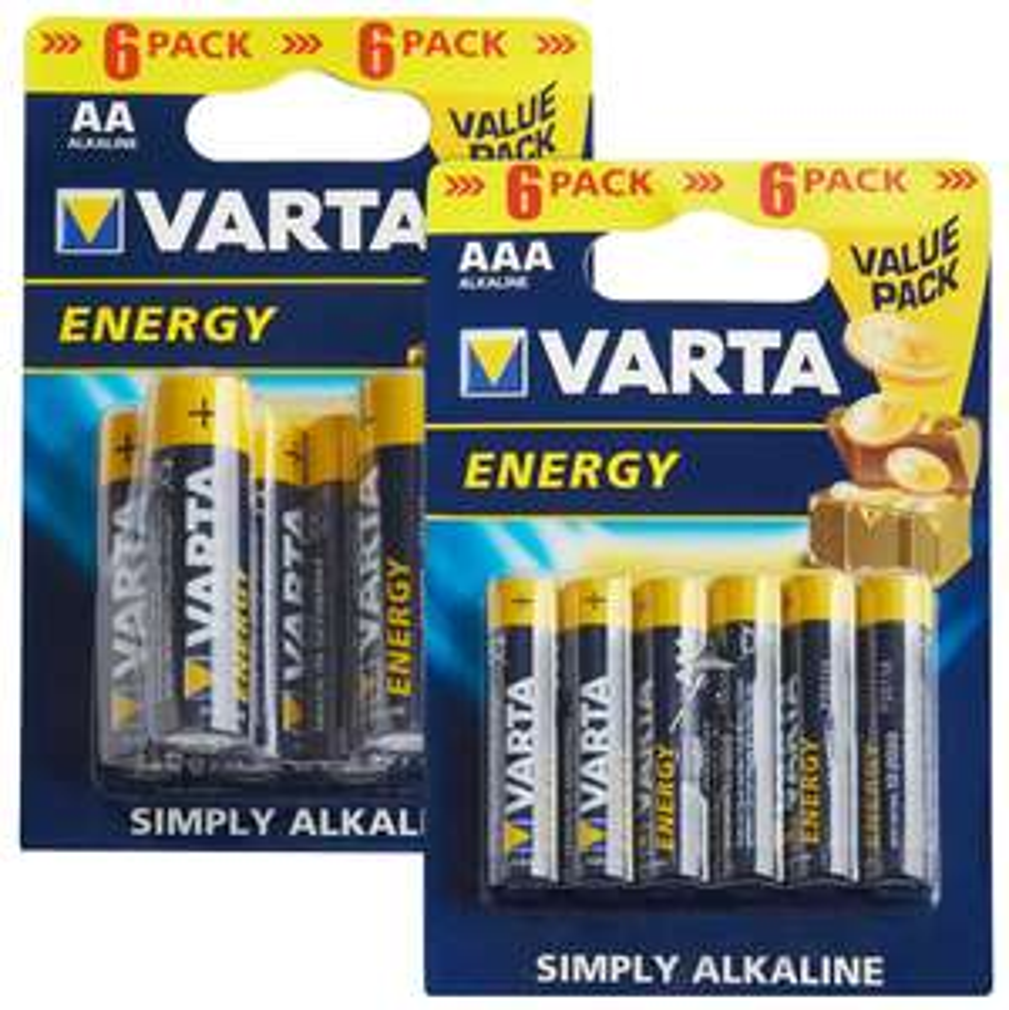 Varta Energy Batterien 6er-Pack AA oder AAA für 1,00€ @ Kaufland ab 08.11.