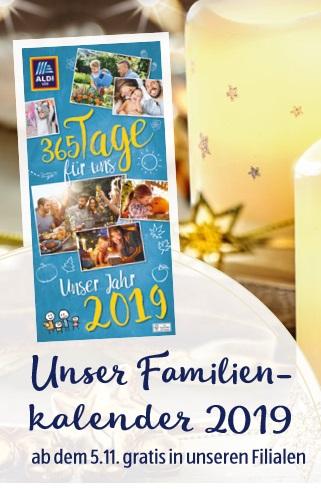 ALDI SÜD Familienkalender 2019 gratis