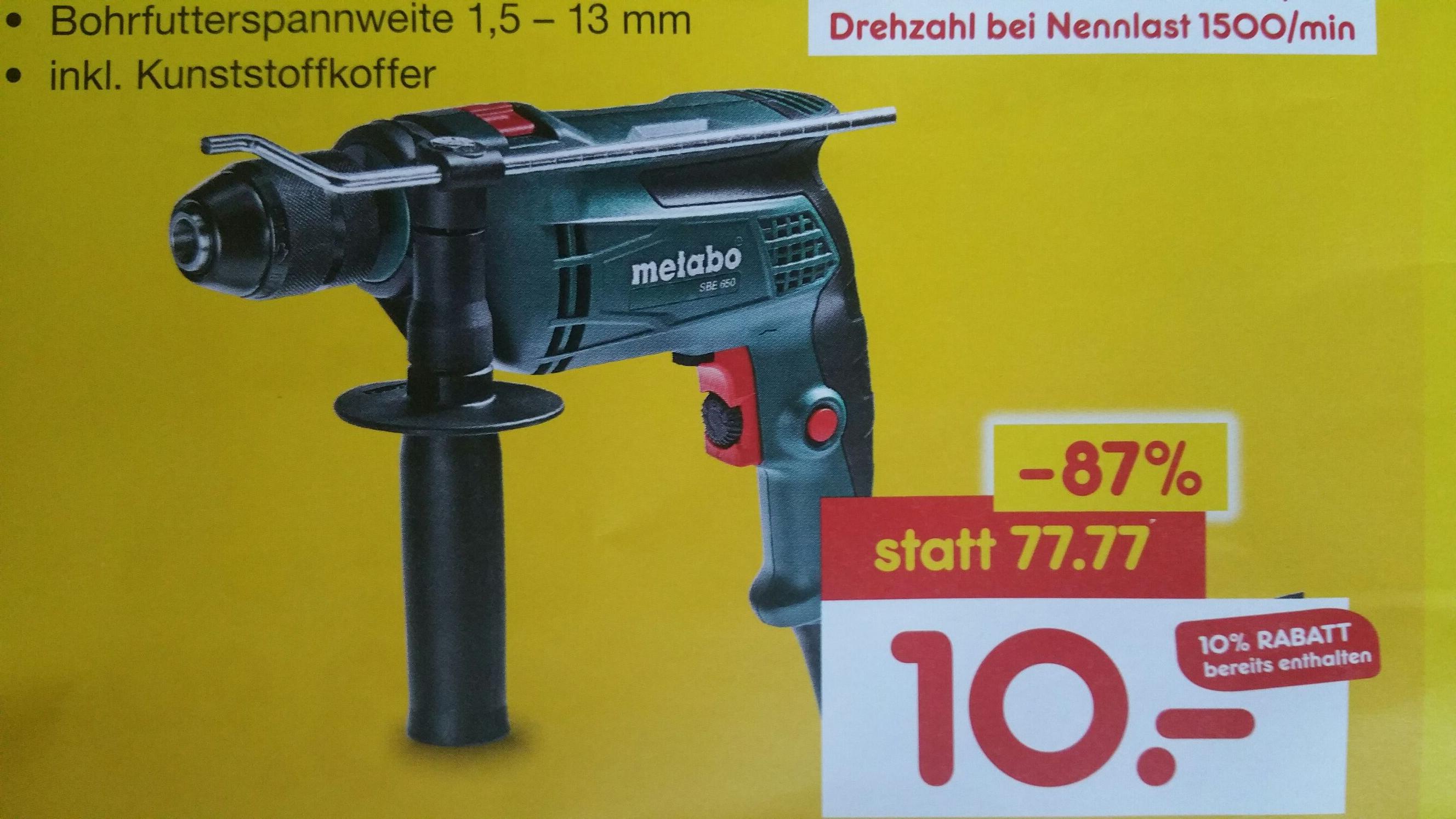 Metabo SBE 650W Netto Neueröffnung LOKAL 67596 Hillesheim
