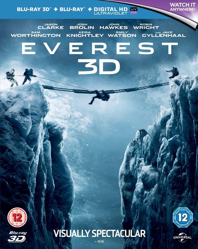 Everest (3D Blu-ray + 2D Blu-ray + UV Copy) für 7,27€ (Zavvi)