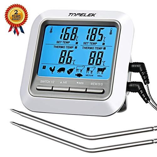 [Amazon] TOPELEK Grillthermometer Fleischthermometer mit 2 Sonden