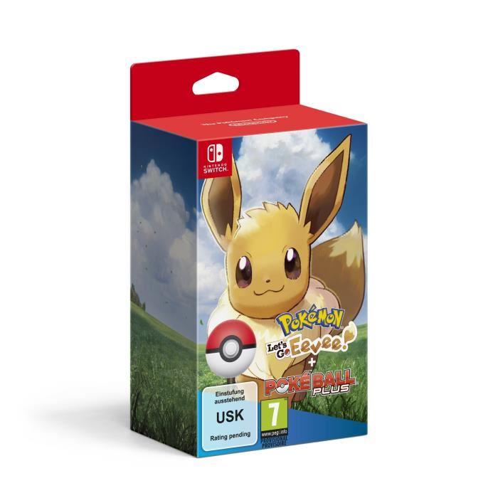 Pokémon: Let's Go, Evoli + Pokéball Plus (Switch) für 76,99€ (Cdiscount)