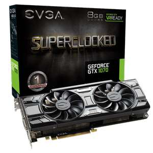 EVGA GeForce GTX 1070 SC GAMING 349,99€