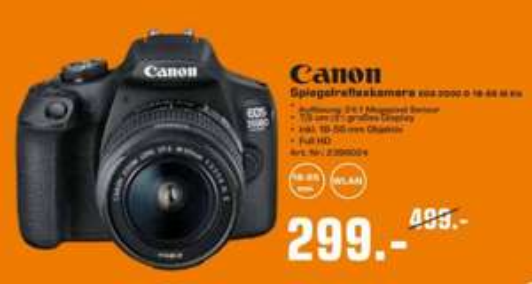 [Lokal] Saturn Dortmund City Canon EOS 2000D inkl. 18-55 mm Objektiv und Jura Kaffeevollautomat E80 Piano Black (15083) für 699 Euro