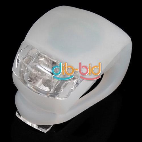 Fahrradlicht Weiß Silicone Bike LED Flash Light White @ ebay inkl. Versand