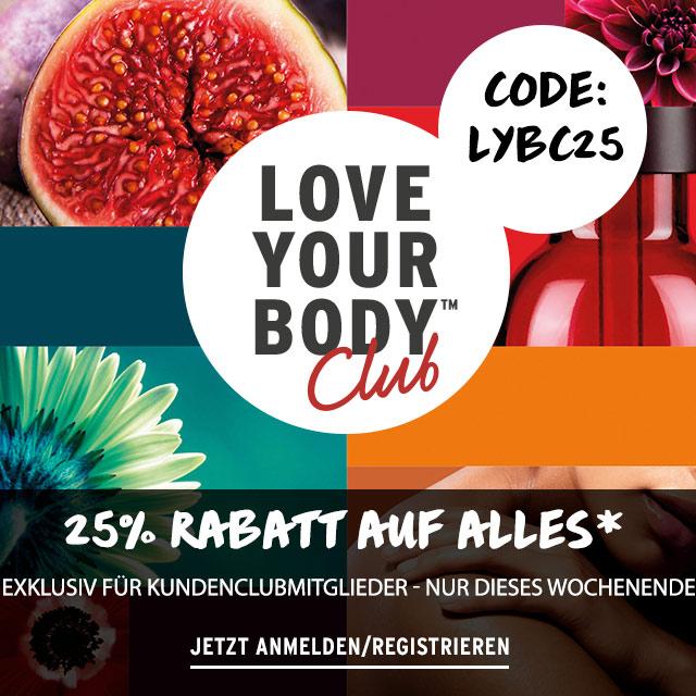 (Online & Offline) The Body Shop - 25% Rabatt auf alles (außer Adventskalender) für Clubmitglieder am 03-04.11