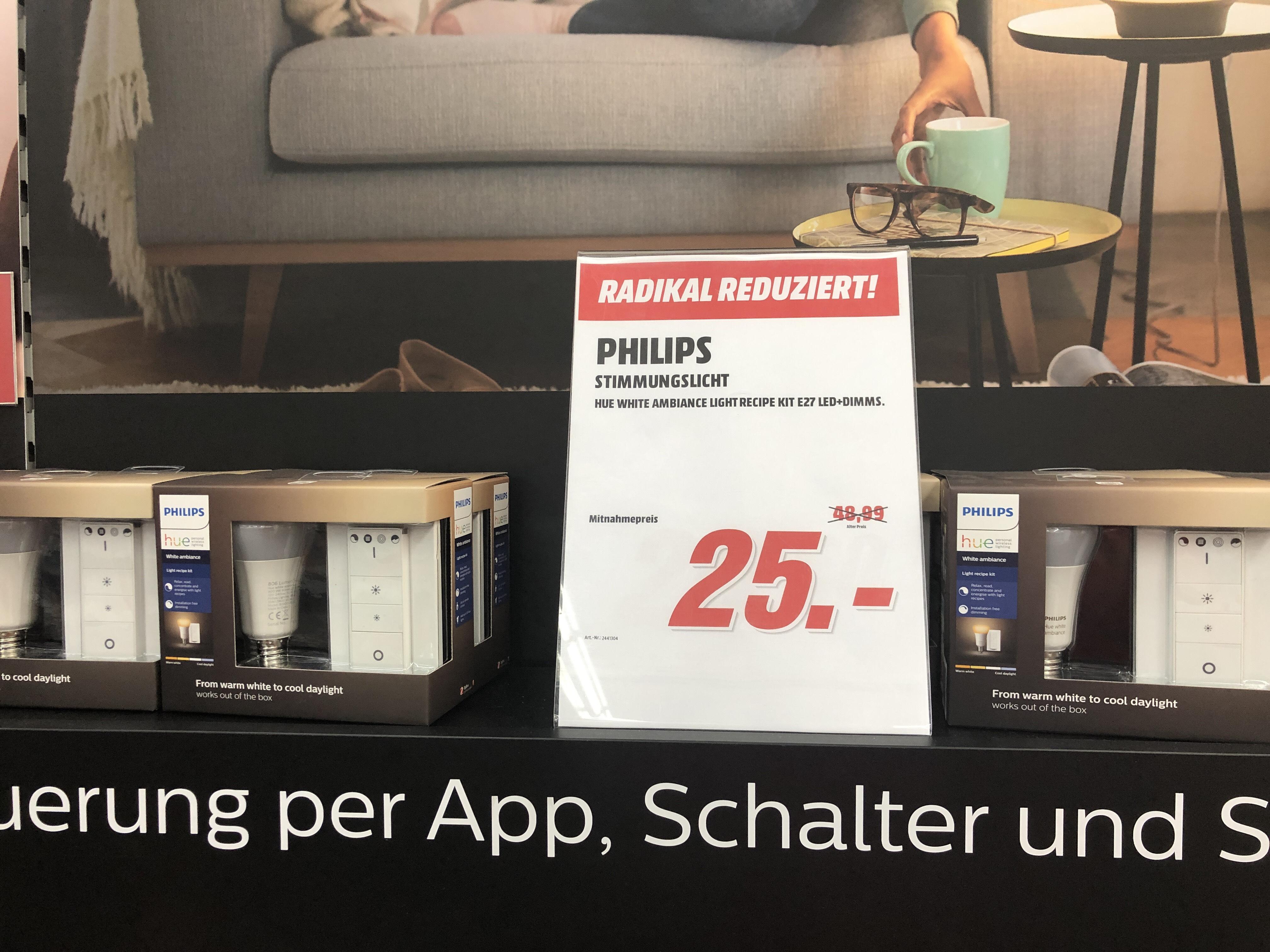 [Lokal] [Mediamarkt Bonn] Philips HUE Light Recipe Kit