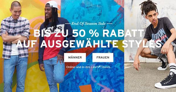 Levi's: Bis zu 50% Rabatt im [Mid-Season-Sale]