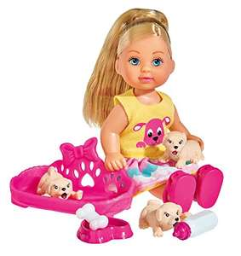 [AMAZON Plusprodukt] Simba 105733041 - Evi Love Puppe mit Welpen