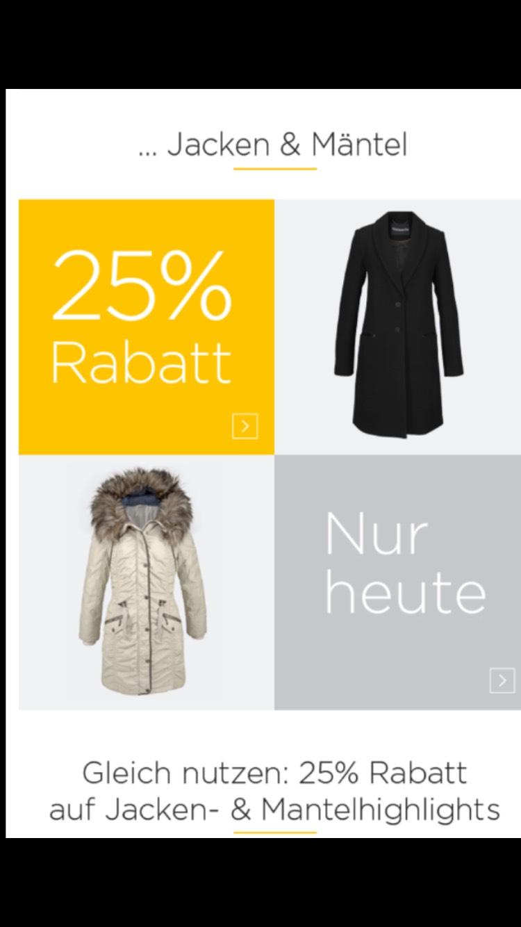 Baur 25% Rabatt auf Jacken und Mäntel + gratis Leonardo Gebäckdose