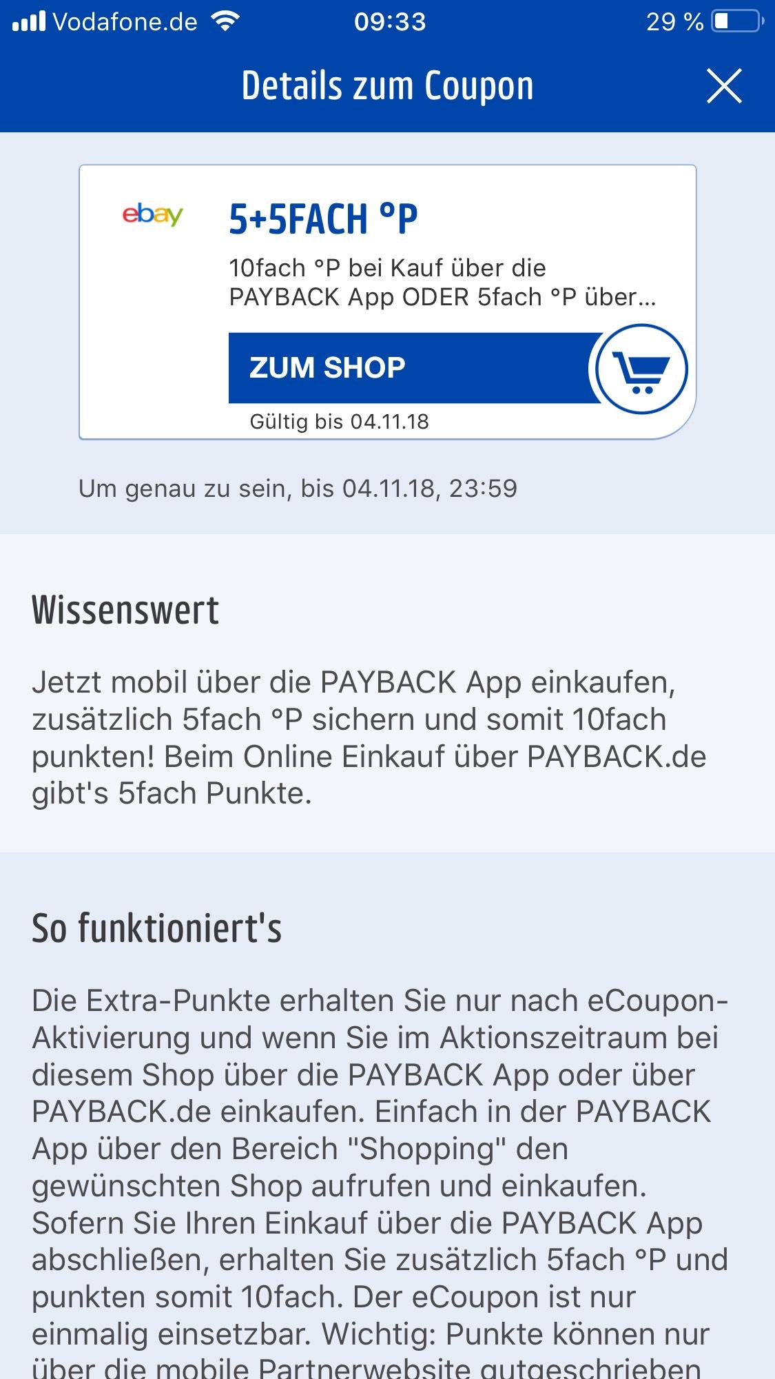 Ebay 10 Fach Payback Punkte [sofern per App]