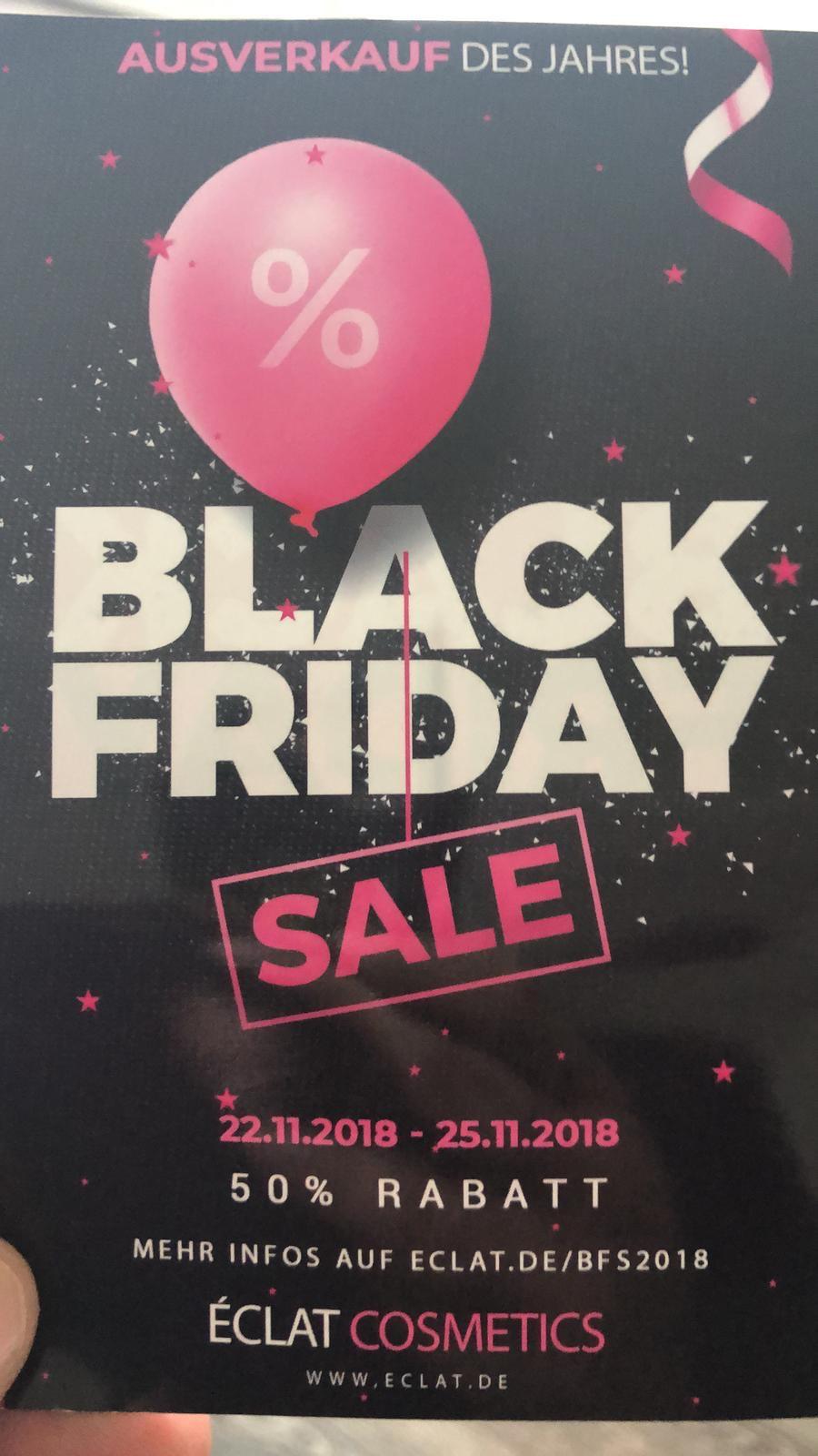 50 % auf alle Düfte im Black Friday Sale bei Eclat