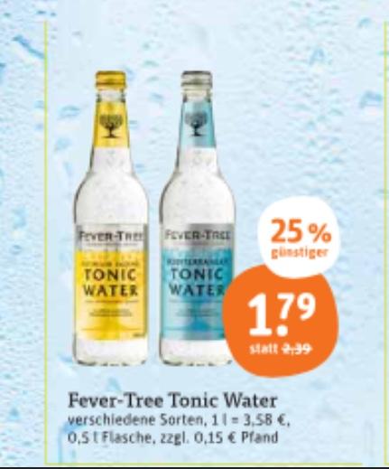 [Lokal tegut] Fever-Free Tonic Water 0,5l versch. Sorten und Ben & Jerry's Eiscreme