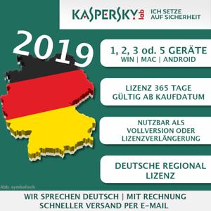 Kaspersky Internet Security 2019 EU Lizenz 3 Geräte 1 Jahr Win Mac Android [ebay]