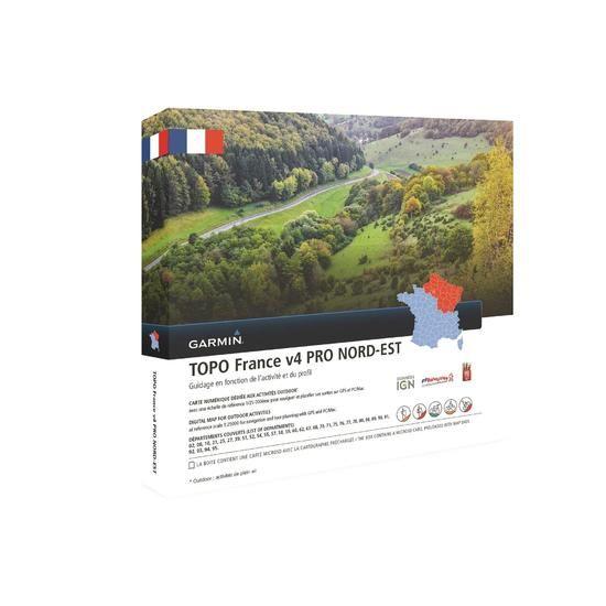 Garmin Topographische Frankreichkarte Nord-Ost V4 Pro
