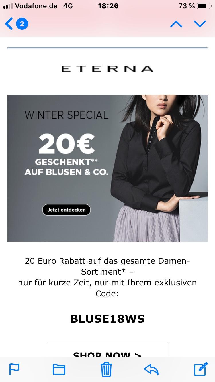 Doppelt sparen mit dem ETERNA Winter Special bei Eterna