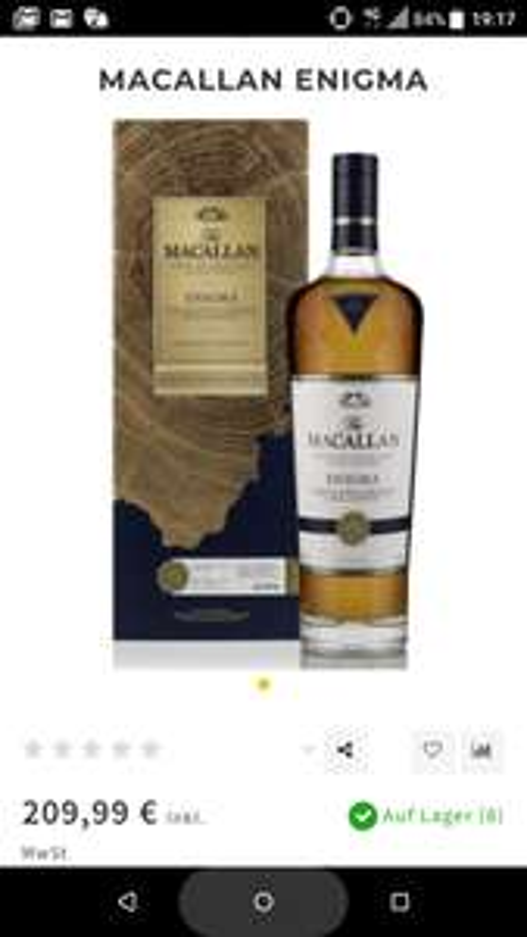 Macallan Enigma Single Malt Whisky für 217,94€