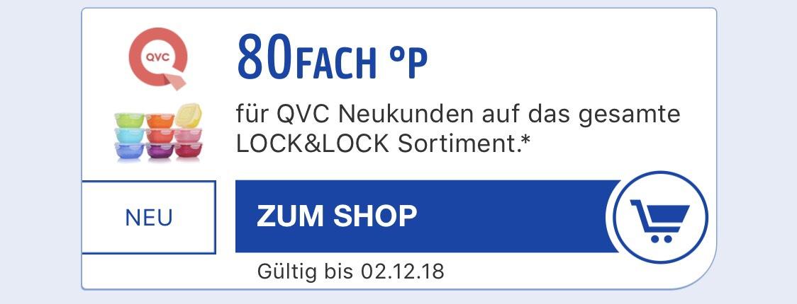 80-Fach Payback Punkte (40% Rabatt) auf Lock&Lock bei QVC (Neukunden)