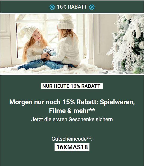 [Thalia] 16% Weihnachts-Rabatt