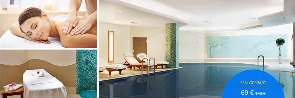 Hilton Berlin: Day Spa, 60 Minuten Massage & Sekt, -51%