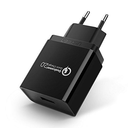 Ugreen USB Ladegerät mit 18W und Quick Charge 2.0 (5V/2A, 9V/2A, 12V/1.5A) [Prime]