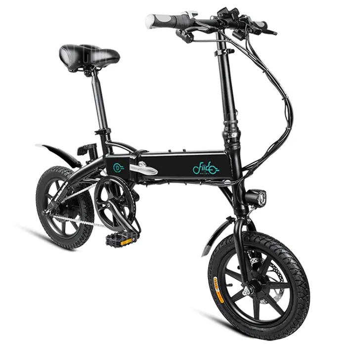 FIIDO D1 Folding Electric Bike Moped Bicycle E-bike BLACK and White 10.4 Ah (Der große Akku)
