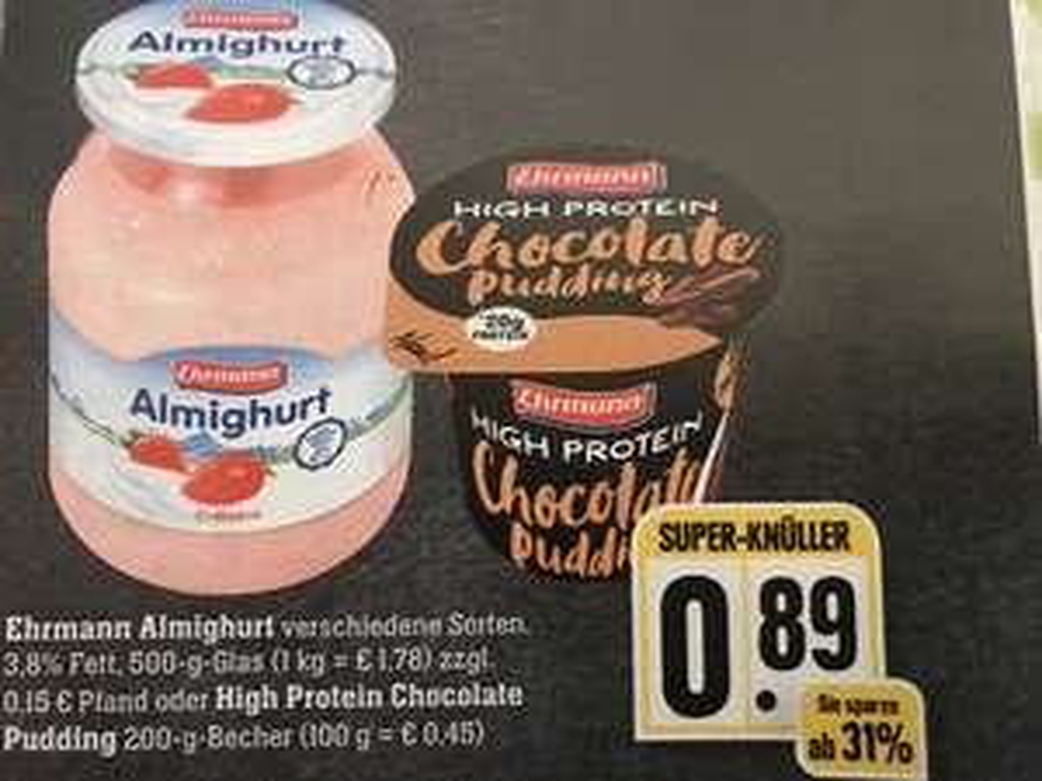 [Scondoo] Ehrmann High Protein Pudding bei EDEKA