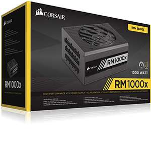 Corsair RM1000x PC-Netzteil (Voll-Modulares Kabelmanagement, 80 Plus Gold, 1000 Watt, EU) (Amazon)