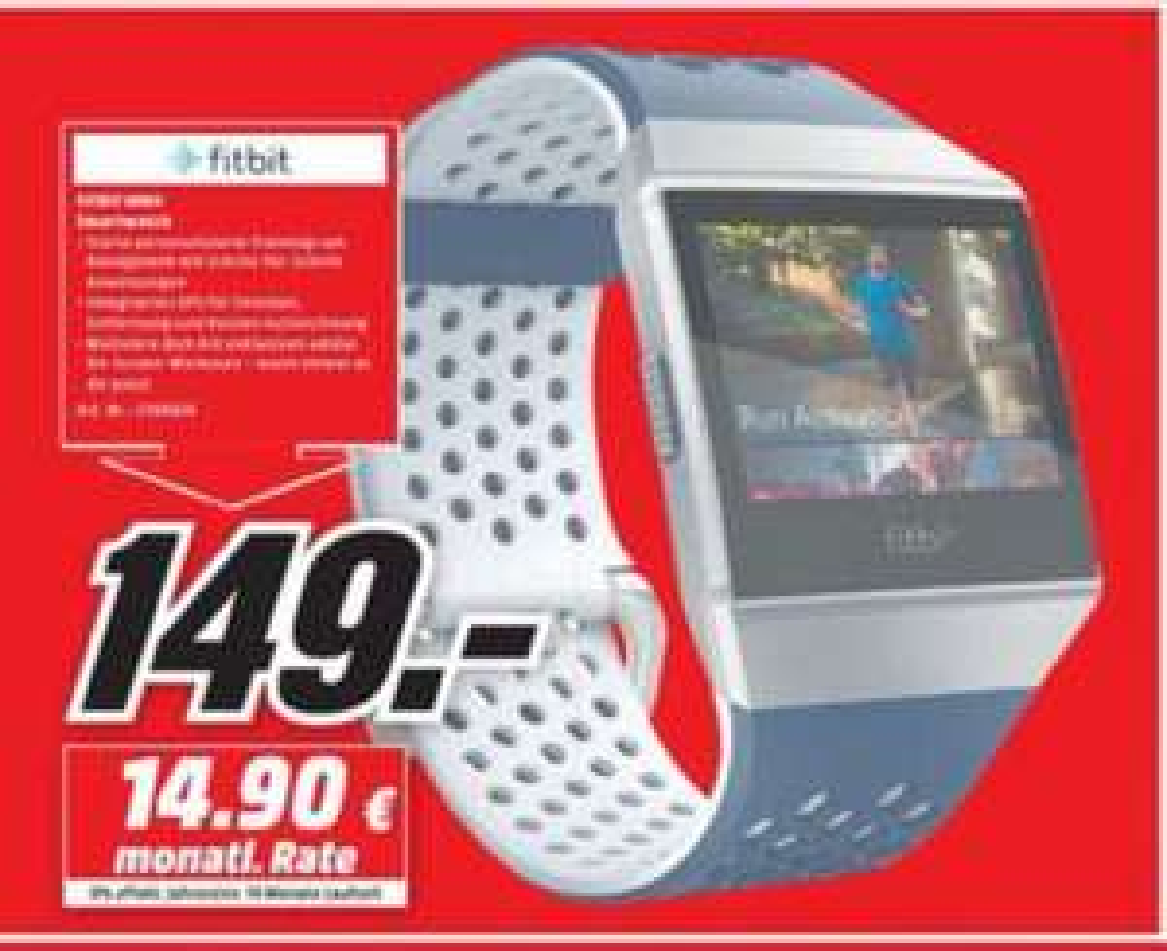 [Lokal Hamburg] Fitbit Ionic Adidas Edition Smartwatch für 149€ Media Markt