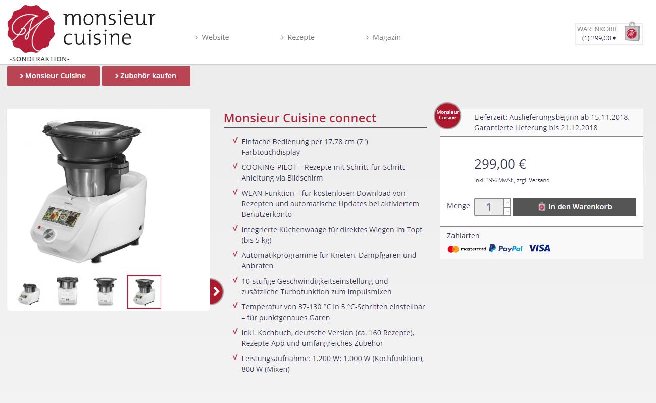 Hervorragende Thermomix Alternative -  Monsieur Cuisine Connect wieder verfügbar