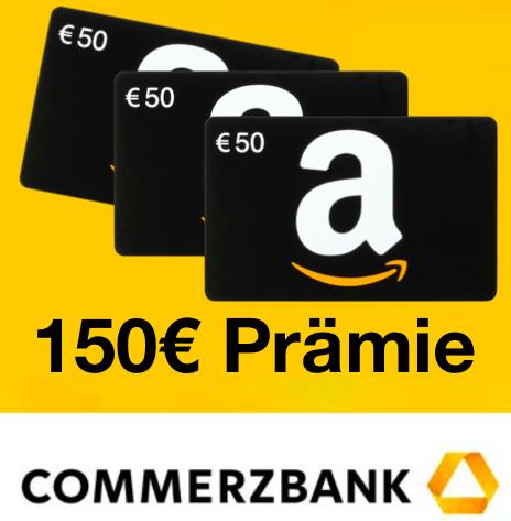 Bis zu 2x 150€ Amazon Gutschein für Eröffnung: Commerzbank Geschäftskonto (für Freiberufler, Selbständige, Kleinunternehmer, etc.)