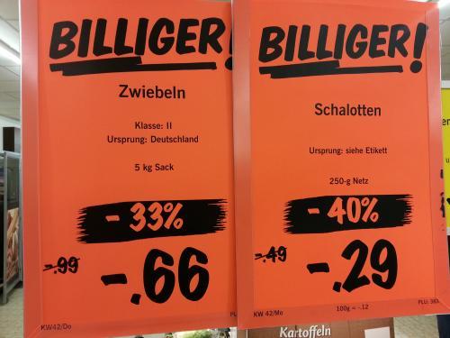 Zwiebel 5 kg für 0,66 Cent und Schalotten für 0,29 Cent (lokal/ Steinfurt) offline@LIDL