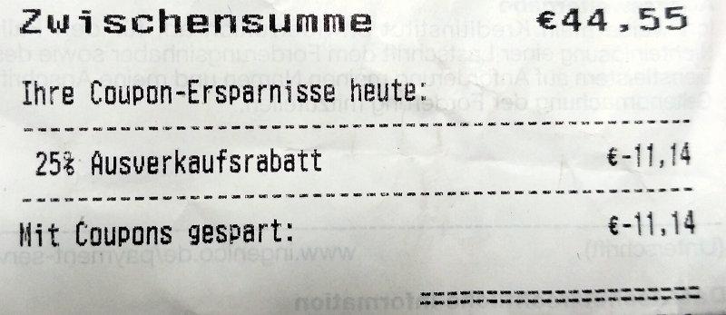 (Lokal Rossmann Lilien-Carré Wiesbaden) 25% auf alles!