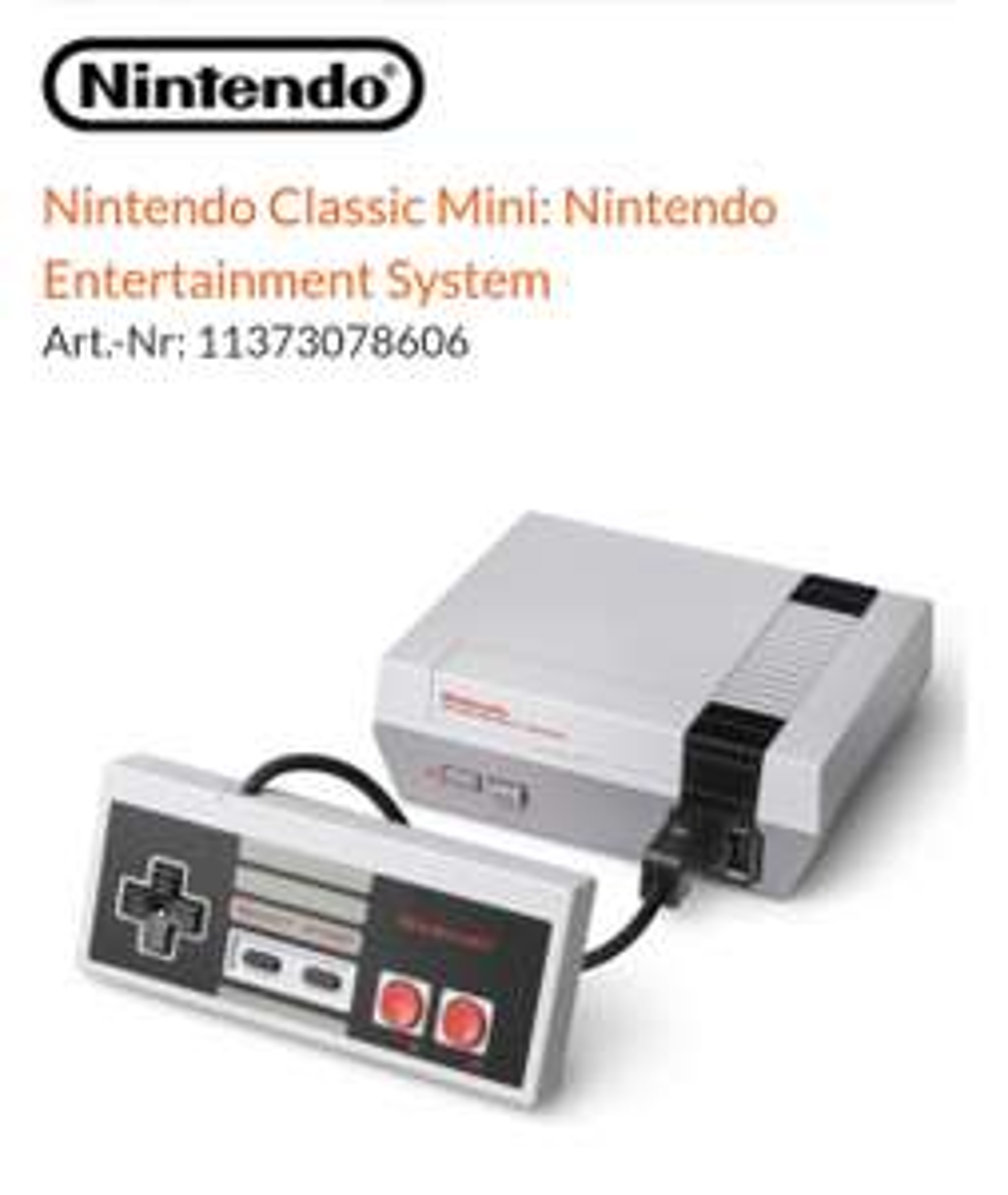 NINTENDO CLASSIC MINI NES [EXPERT Bundesweit Versand 3,99€]