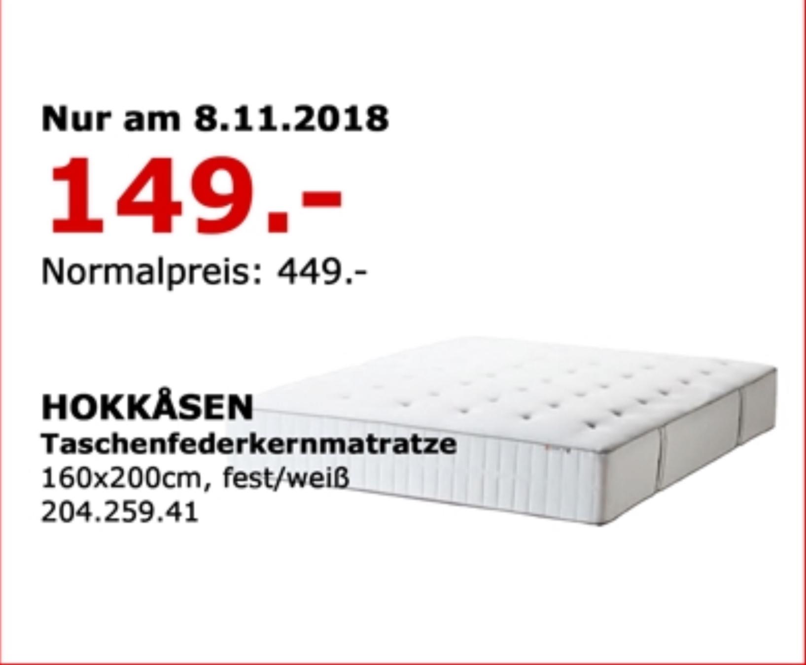 [LOKAL] Ikea Berlin-Waltersdorf HOKKÅSEN Taschenfederkernmatratze