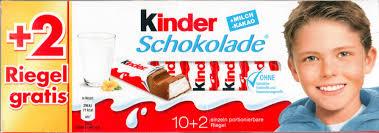 Kinder Schokolade 12 Riegel für 99 Cent / Ritter Sport für 59 Cent / Destilliertes Wasser für 99 Cent  [Globus]