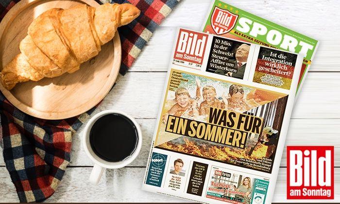 12 Ausgaben BILD am Sonntag für 25,20 Euro + Verrechnungscheck