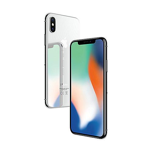Apple iPhone X 64 GB Silber + Original Silikon Case für 811,90 Euro