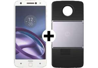 Motorola Moto Z (5,5 Zoll WQHD, 32 GB, 4GB RAM, 13/5MP, NFC) + Beamer Erweiterungsmodul Moto Insta-Share Projector für 244€ (Media Markt AT)