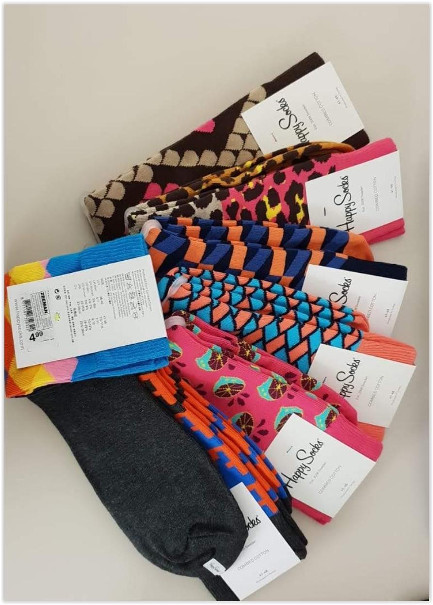 Happy Socks Größe 41-46 Einzelpaare offline bei Zeeman Textiel Supers