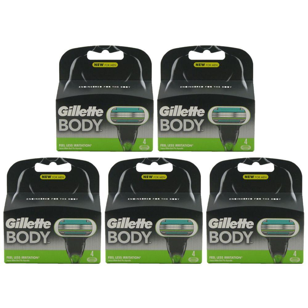 20 Stück Gillette Body Rasierklingen (5 x 4er Ersatzklingen) + 7,02€ in Superpunkten