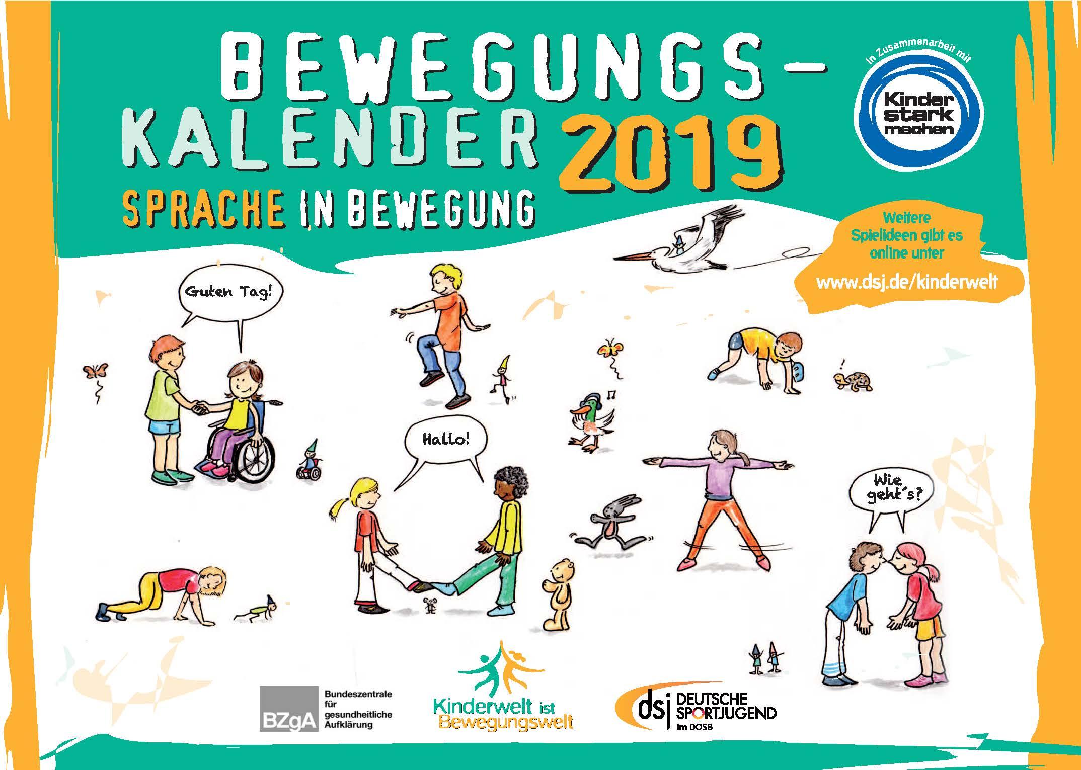 Deutsche Sportjugend - Bewegungskalender 2019 kostenlos bestellen