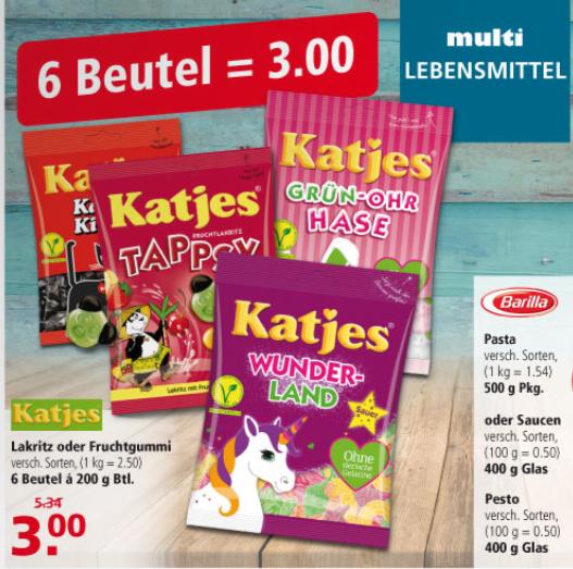 [multi] Katjes (Lakritz/Fruchtgummi) 2,50€/kg