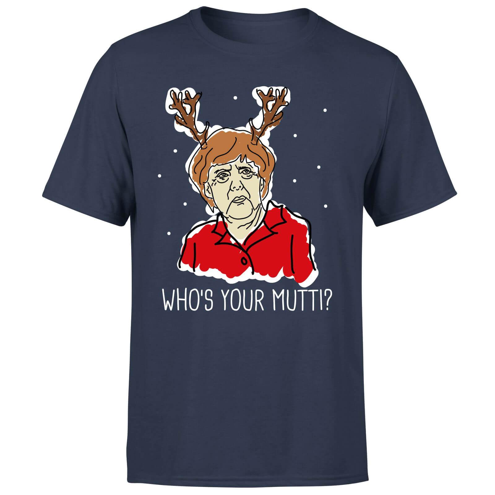 Who's Your Mutti? - Festliches T-Shirt mit bekannter älterer Dame (Damen und Herren, S bis XXL)