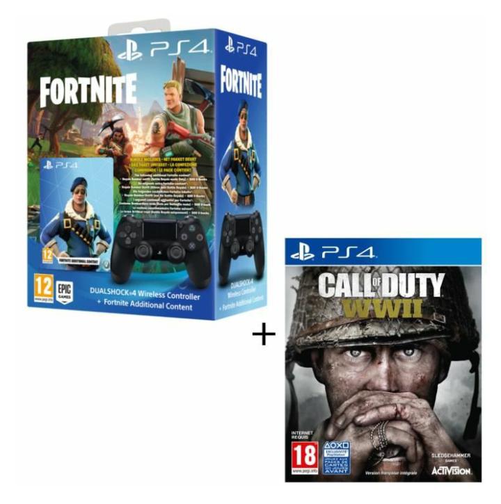 PS4 Bundle: Call of Duty: WWII + DualShock 4 Wireless Controller inkl. Fortnite Digital Inhalte (Cdiscount)