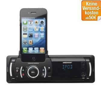 Medion Autoradio mit Dock für iPod / iPhone  - Tagesangebot bei plus.de nur 69,95