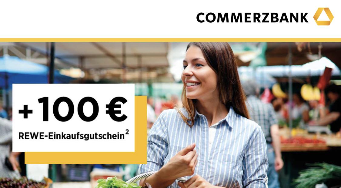 Commerzbank Privatkonto + 100€ Rewe Gutschein