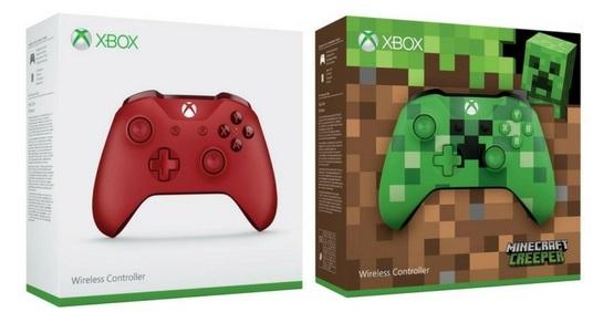 [amazon.it] Doppelpack: Microsoft Xbox One Wireless Controller (Xbox One/PC) in rot + Minecraft Creeper Editon (Stückpreis = 36,48€)
